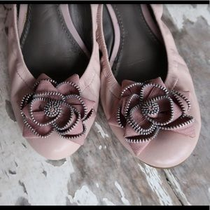 Light pink rose ballet flats